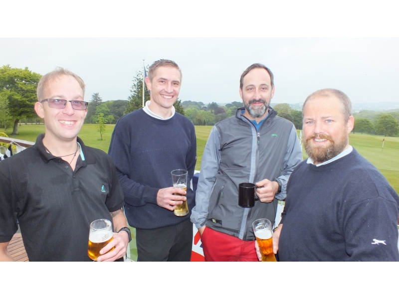 20th Annual Mayor of Truro's Charity Golf Day, 12 May 2017 - Millerson - Paul Morgan, Jon Skiller, Jeremy Chapman, Paul Le Bas
