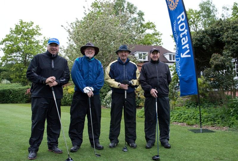2015 Charity Golf Tournament  - A worthy second place for Rtn Kevin's team