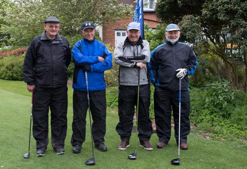 2015 Charity Golf Tournament  - Rtn Peter Kay with his ex Witney Rotarian team