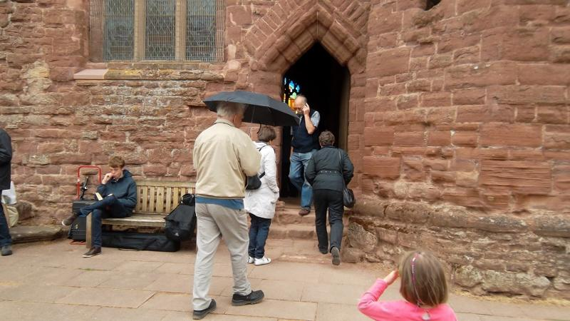 Odal Visitors - Goodrich Castle a drizzly day