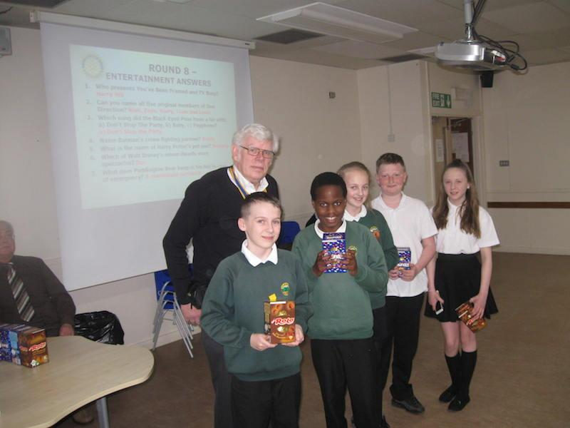 Primary School Quiz 2016 - Greenbrae receive their Easter eggs-1