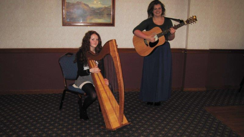 Guest Lunch 2014 - Two talented performers: Ellenor Waddell and  Caitlin Smith
