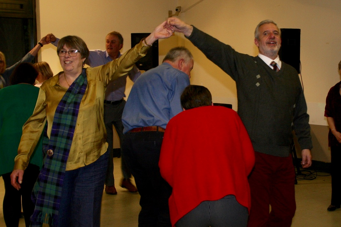 Burns Night Supper and Dance Great Success - Guests enjoying the dancing 1