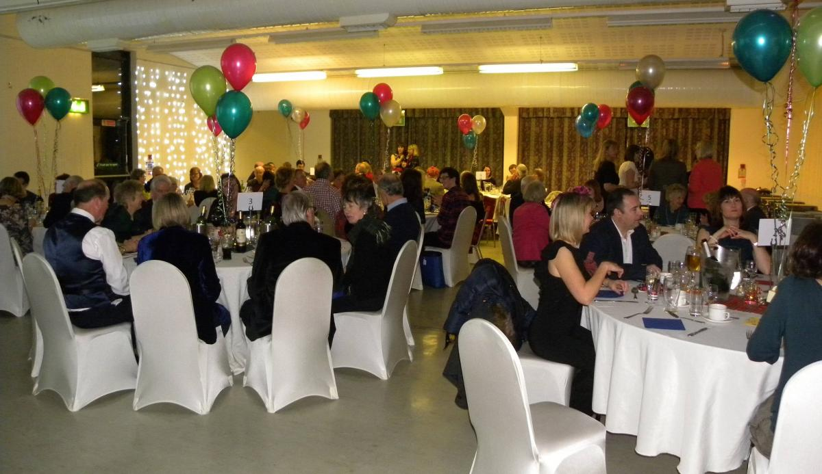 Burns Night Supper and Dance Great Success - Guests enjoying traditional burns supper