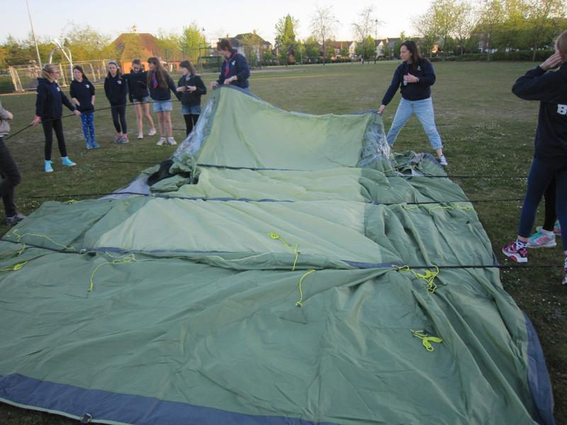 Elvetham Heath Guides get new tents -