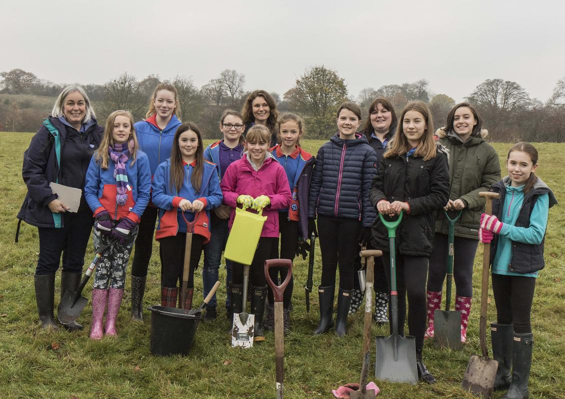 Memorial First World War Centenary Peace Wood tree planting, Saturday 17th November 2018 -
