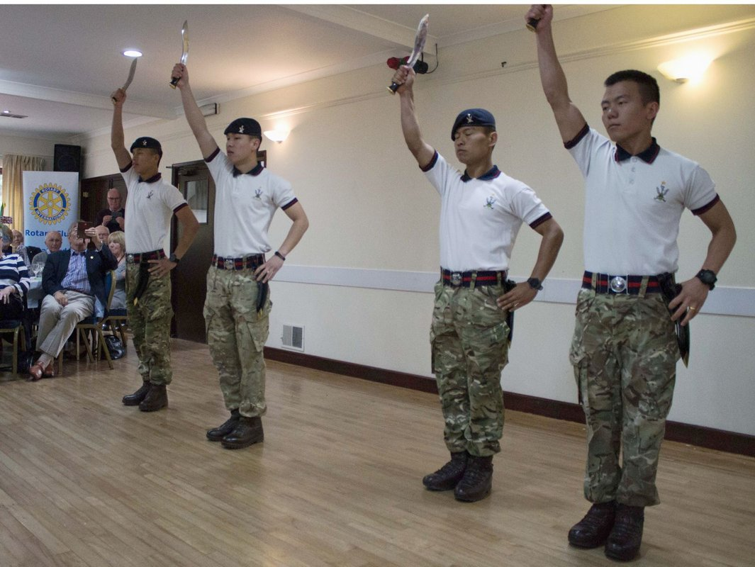 Gurkha Lunch 30th April 2017  - performing the Kukri Dance