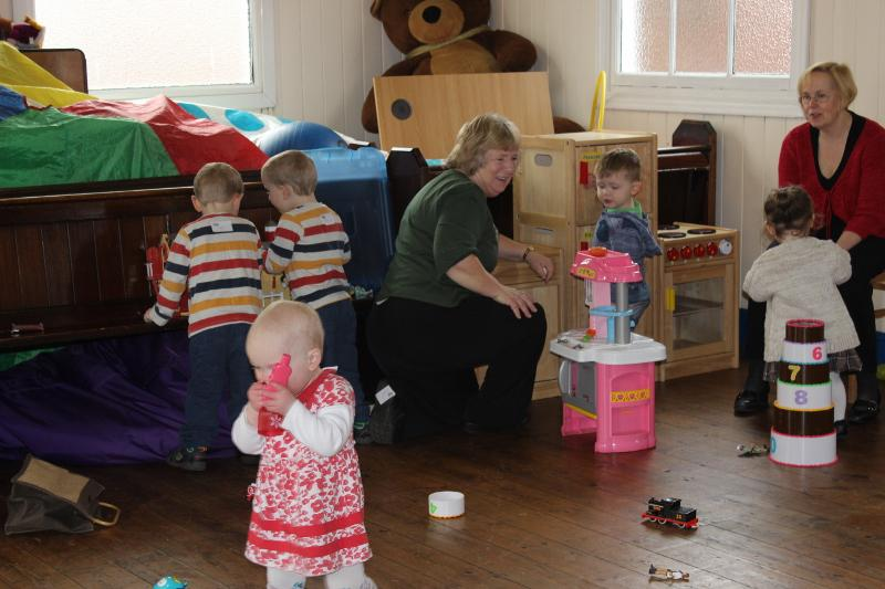 Our supported charities  - A cup of coffee and a chat for the parents and play-time for the children.
