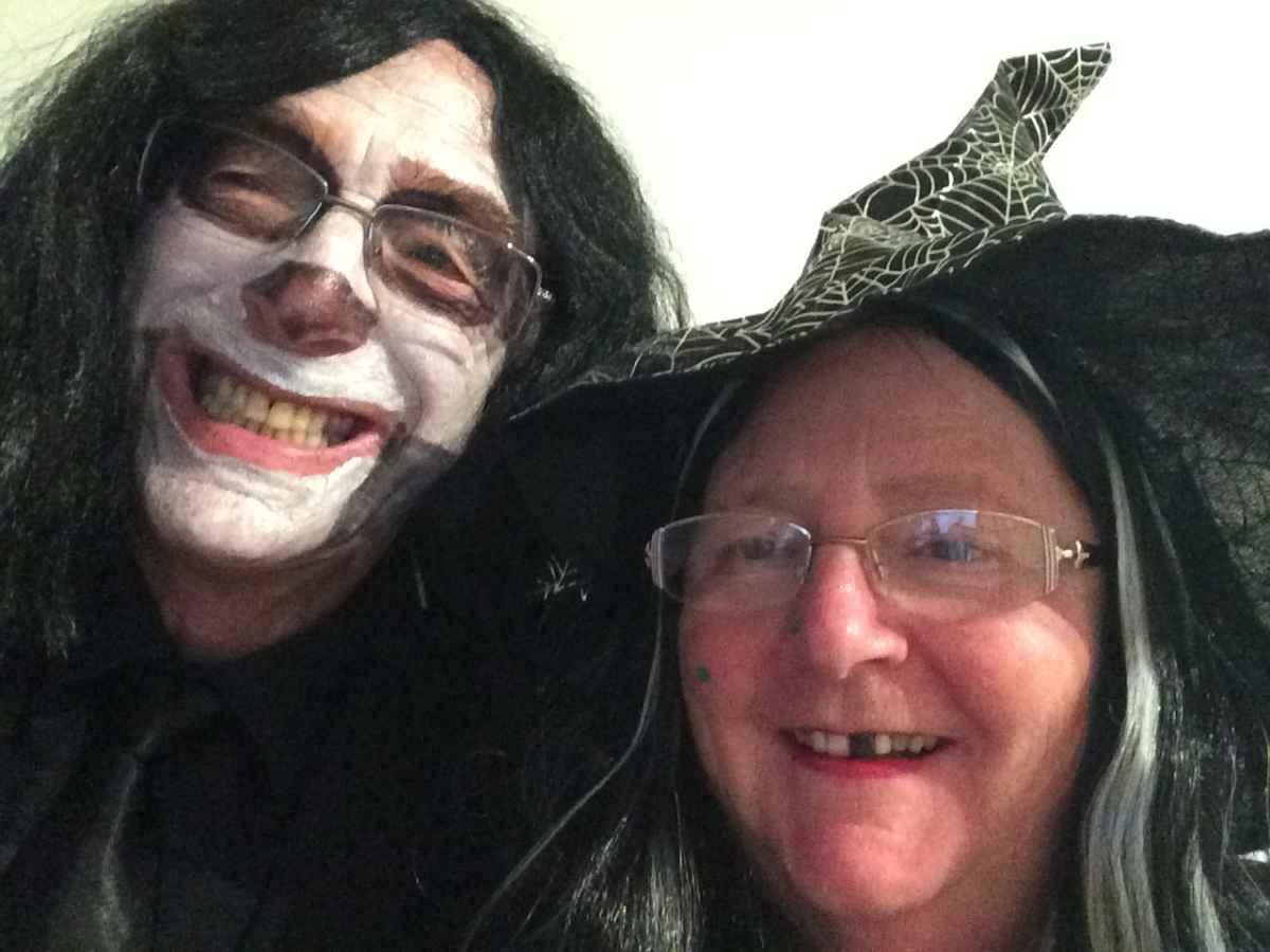 All Hallows Eve (almost) - What a lovely couple.