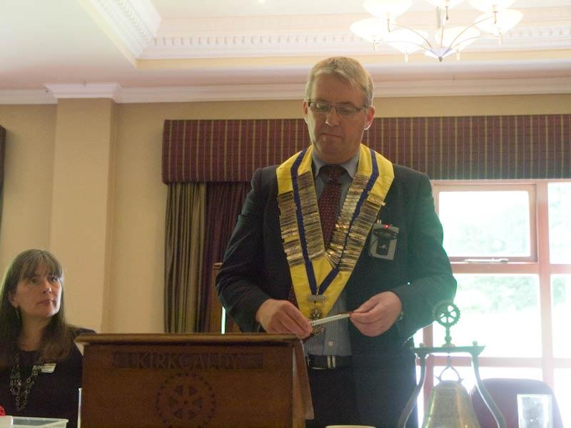 Handover Day - Brian addresses the club for the last time as President