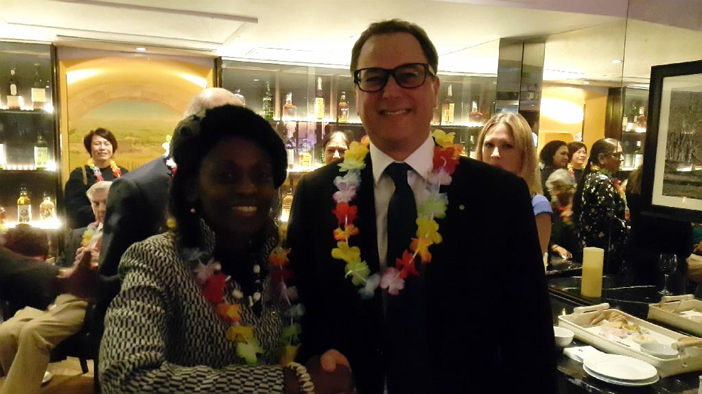 Social Evening and Induction of New members - Rotarian Mark Kelly and President Josephine Ojiambo