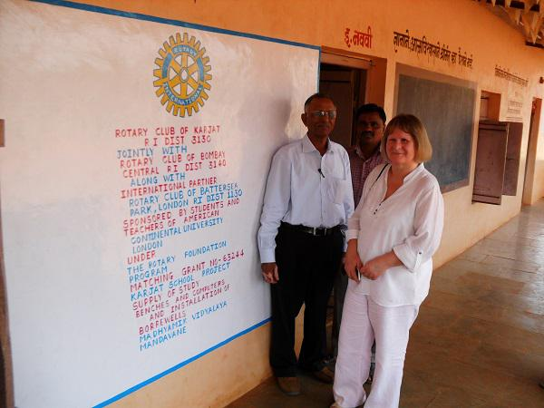 Update on our visit in 2014 to Mumbai - Headteacher with Pres. Elect Gill