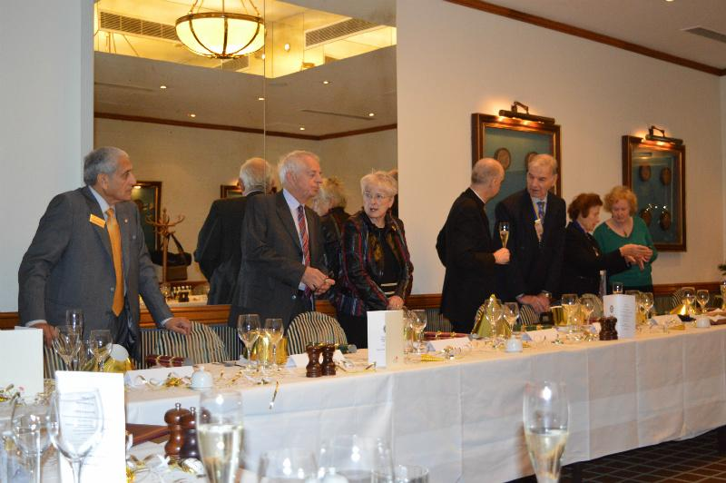Christmas Lunch - December 2014 - President Dennis and Guests at the top table.