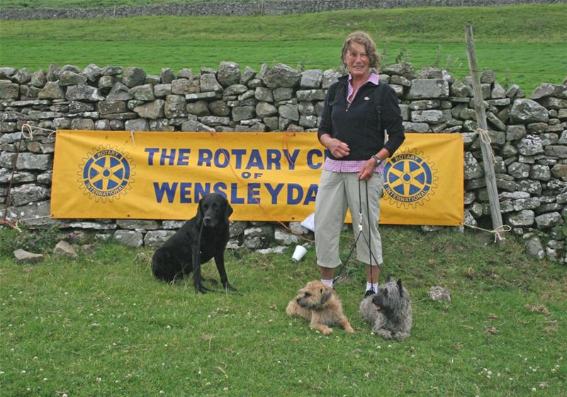 James Herriot Country Trail Run 2010 Report - Grete Buck of Redmire after jogging round the course with her dogs!