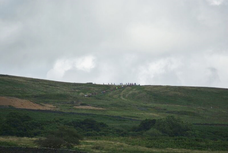 James Herriot Run Report 2017 - Runners seen in distance on Black Hill
