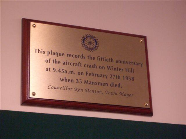 Horwich Charter Night 2008 - Winter Hill Memorial Plaque in Horwich Heritage Centre