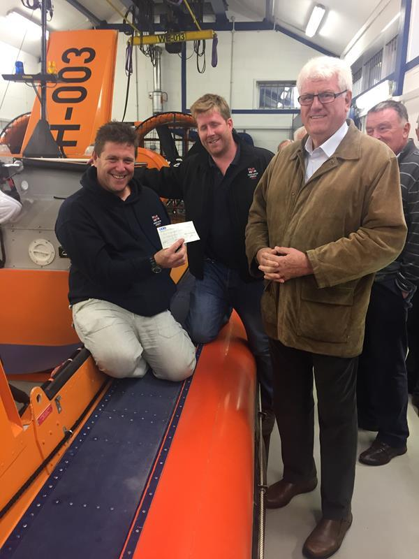 Trinity did not mean to go to sea - Donation to the work of the RNLI