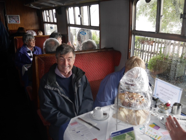 Afternoon tea on the Boness and Kinneil Railway - I'm hiding