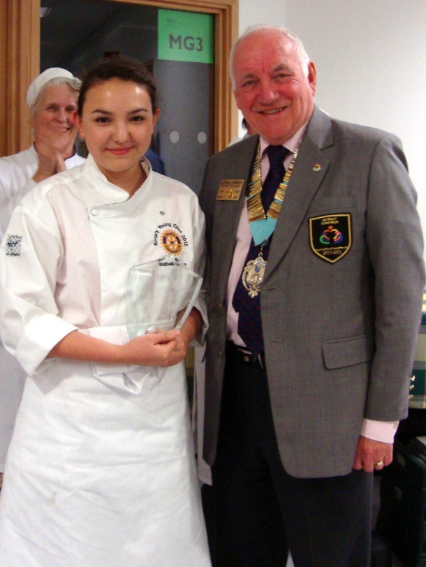 Fleet Young Chef wins Rotary National competition in Abingdon - 21 April 2012 - IC with DG 1280