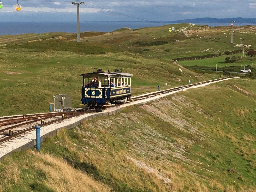 District Conference - Llandudno - Phew - the rescue tram arriving to retrieve our intrepid weekend warriors