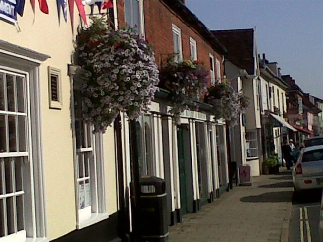 Photos of Hadleigh - A few of the 60 hanging baskets which are providing a delightful display of colour in the high street this summer thanks to Hadleigh Chamber of Commerce and sponsors and organisations including the Rotary Club of Hadleigh who sponsor the community scheme