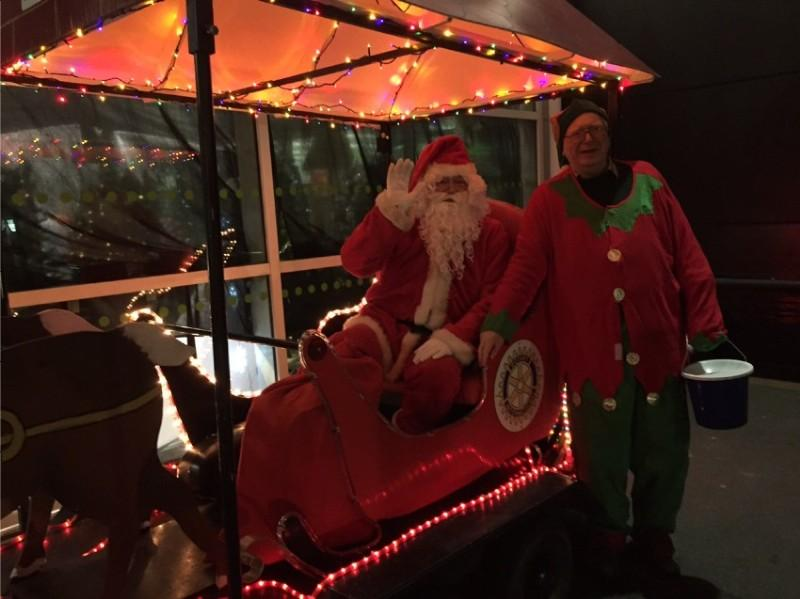 Out and about with Santa! -