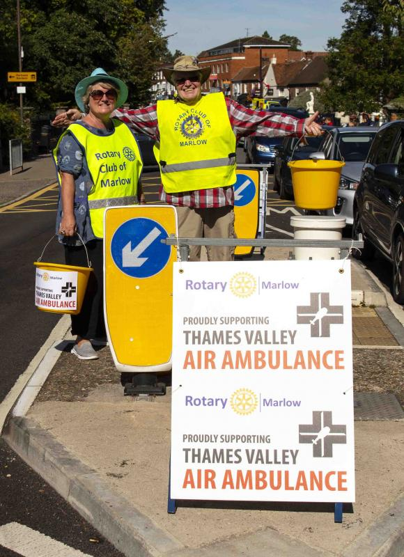 Thames Valley Air Ambulance collection by Rotary Club of Marlow -