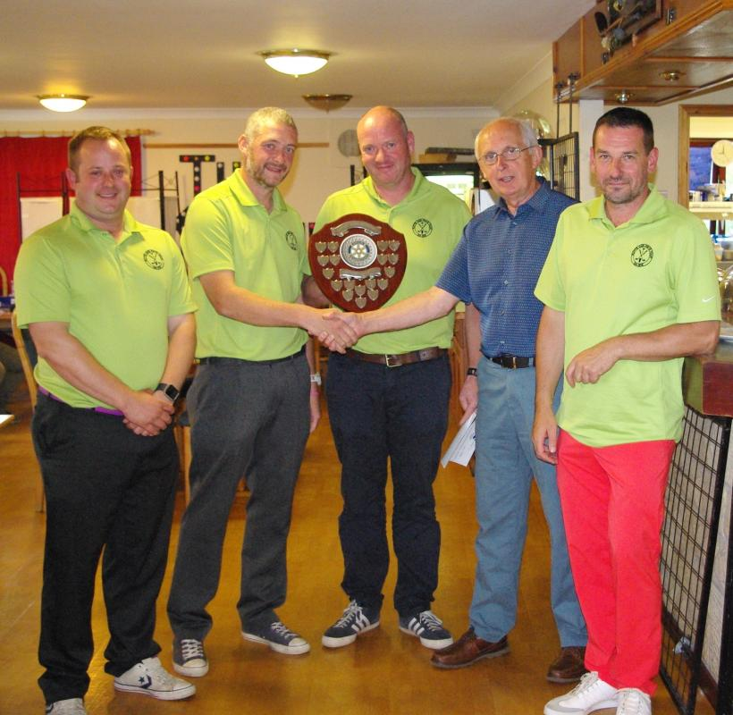 Our Annual Charity Golf Day - The Black Bull Hotel, Duns. Team members: Stewart Patterson,  Russell Patterson,  Keith Cockburn and Ian Renton.