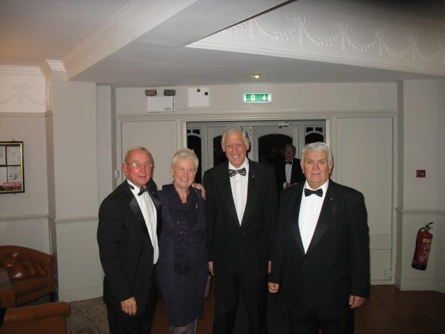 Lymm Rotary 80th Charter Dinner - John Beard, Alison & Tony Cookson and Ted Thorpe -Looking Sharp