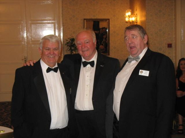 Lymm Rotary 80th Charter Dinner - Ted, Terry and Jeff