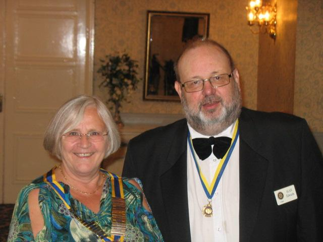 Lymm Rotary 80th Charter Dinner - Sue Tupman and Alan Edwards