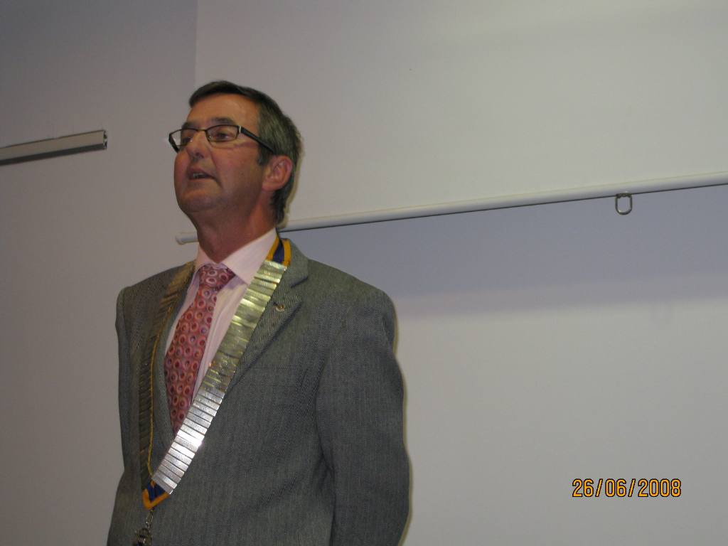 2008 Presidential Handover - Outgoing President David Hill