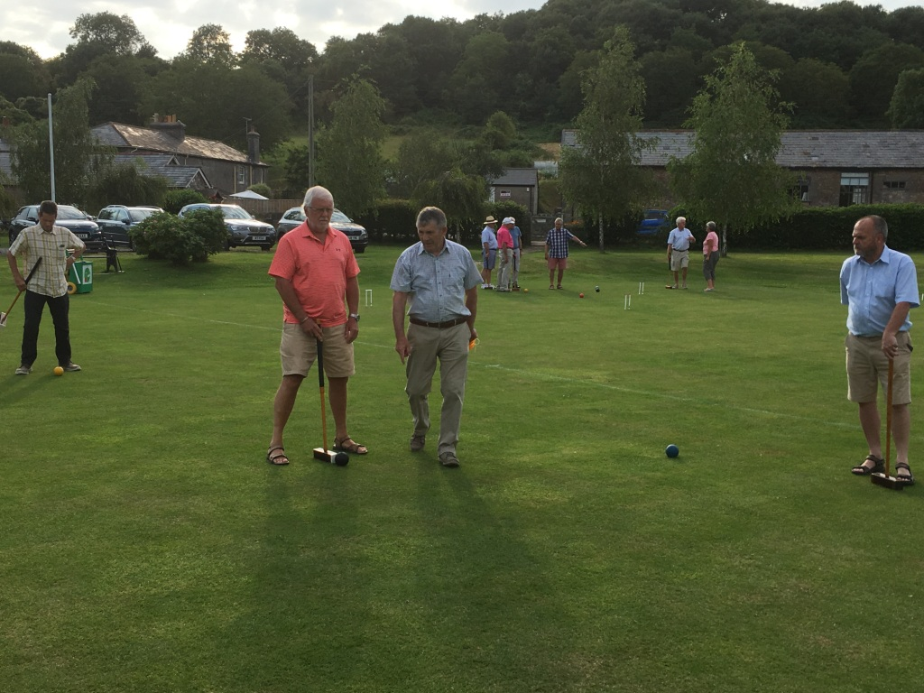 Croquet evening - Members learning to play croquet