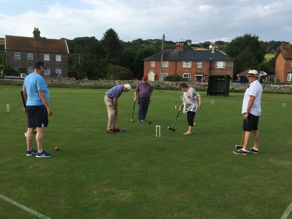 Croquet evening - Action shot