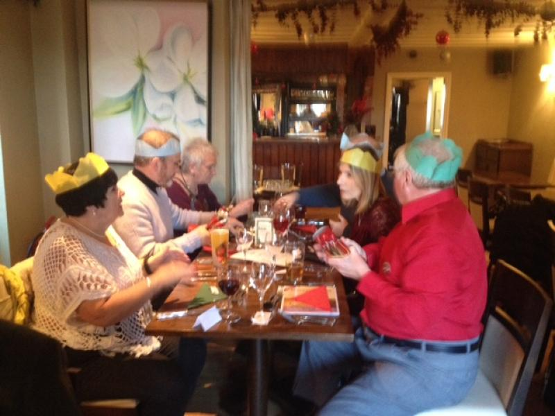 12.45 for 1pm Rotarians Golfing Xmas Lunch  - Enjoying the meal 4