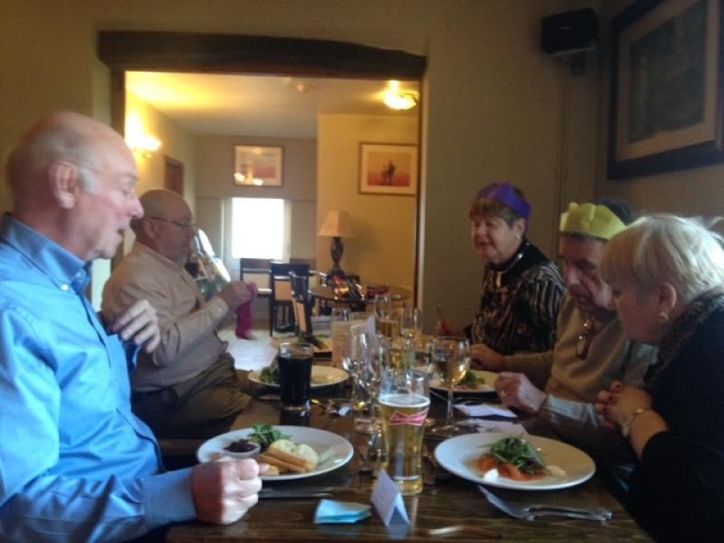 12.45 for 1pm Rotarians Golfing Xmas Lunch  - Enjoying the meal 5