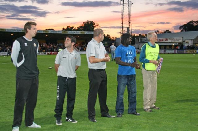 Aug 2011 Tommy McLafferty Football Tournament for the Homeless - Awards at Abbey Stadium, Cambridge -