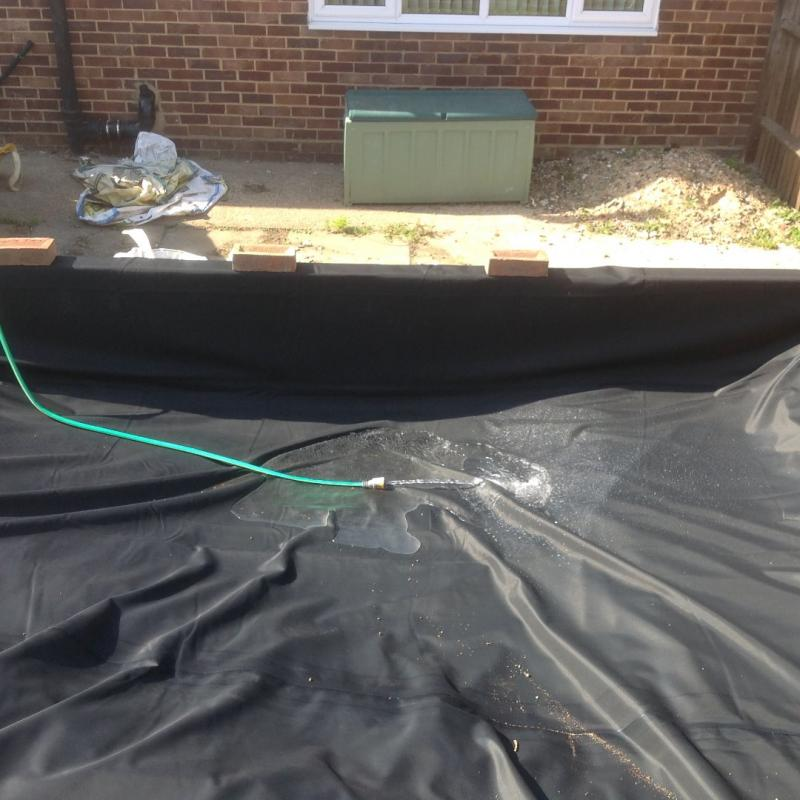 11th Sept 2015 - today is pond day ! - the filling starts