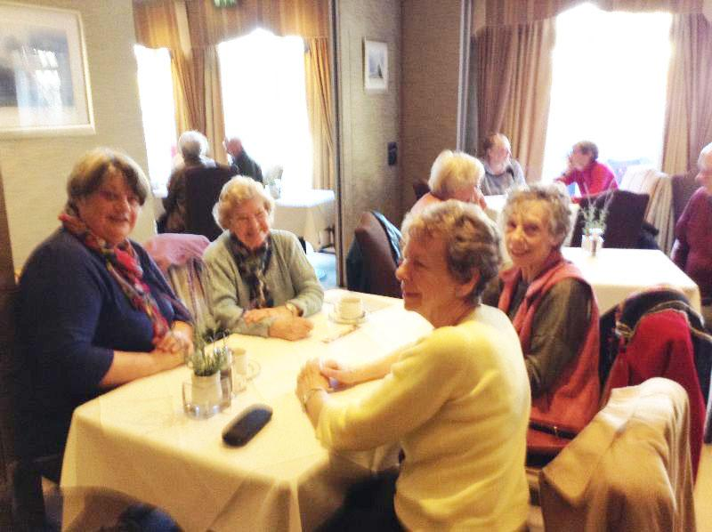 Over 60's Coffee Morning - Locals enjoying the coffee and biscuits