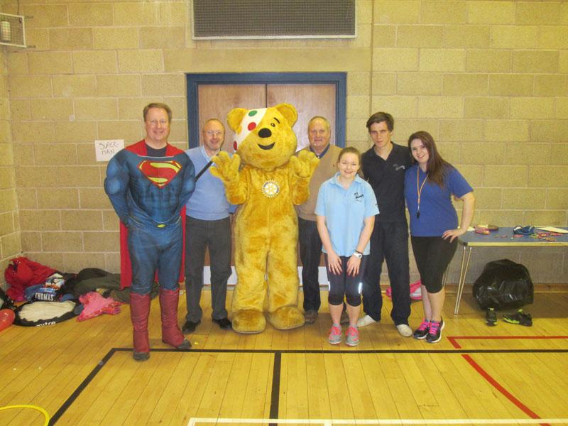 Children in Need 2014 - Pudsey with some helpers and MLC staff