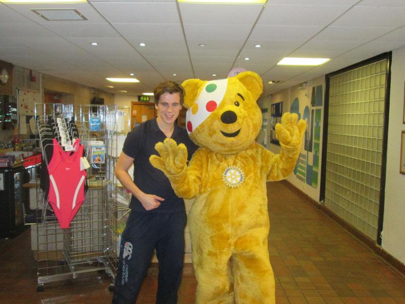 Children in Need 2014 - Pudsey and Alistair at MLC