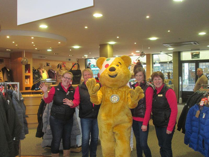 Children in Need 2014 - With some admirers at mlc