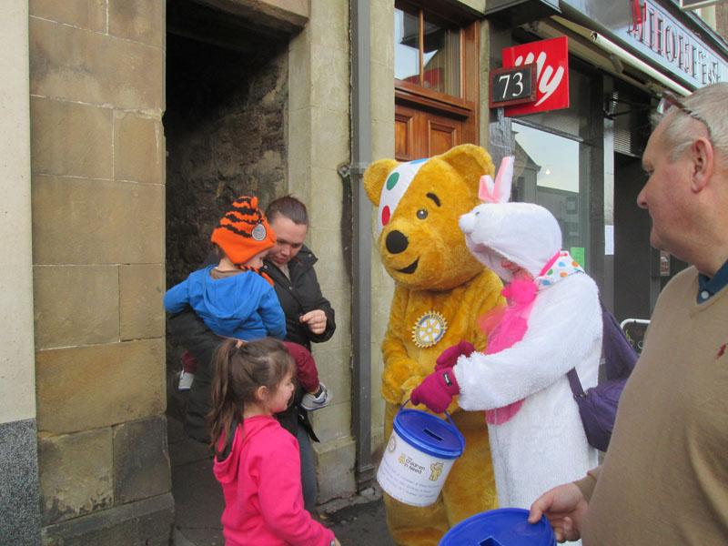 Children in Need 2014 - They're never too young to give something to Pudsey ..... or too old for that matter