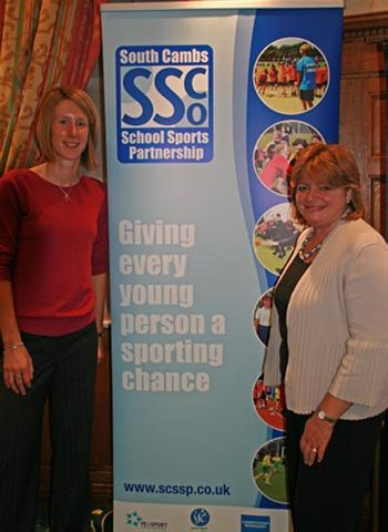 Oct 2011 Speakers Claire McDonnell and Claire Roe South Cambs SSP -Leadership Academy Bursary Scheme and Mini Olympics -