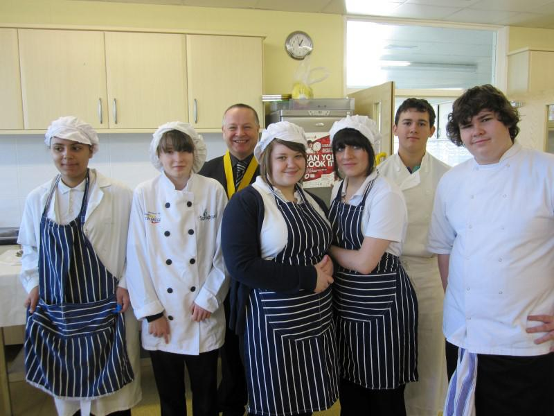 Club Activities - We hold a Young Chef competition between the schools to find the new Jamie Oliver!