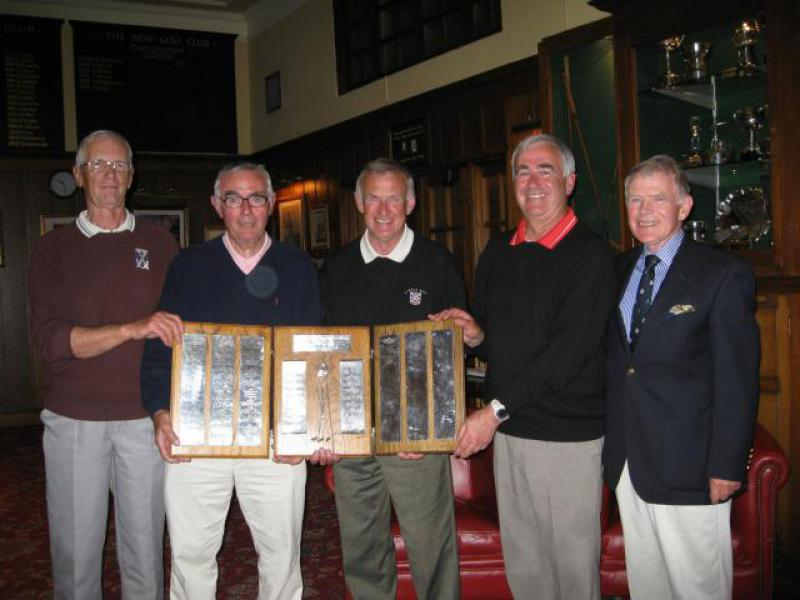 City Foursomes Golf 2013 - St Leonards Church team and President Jimmy
