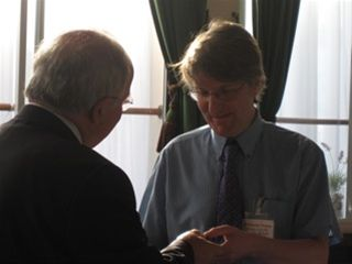 Christopher Thomas' PHF Presentation - Graham hands over the PHF pin