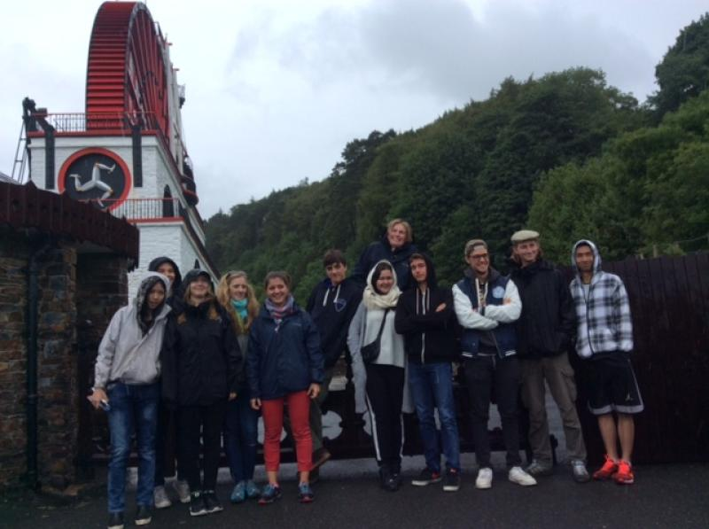 District Summer Camp 2015 - Group at the Laxey Wheel