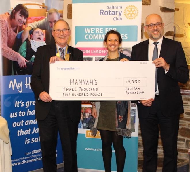 Supporting the Local Community - Presentation to Hannahs