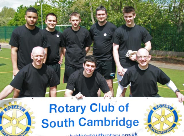 May 2012 Tommy McLafferty Football Tournament for Homeless communities - South Cambridge team of members and friends